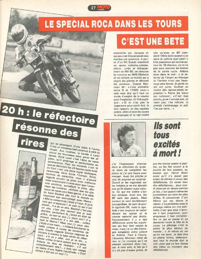 Moto Journal 9 septembre 1982
