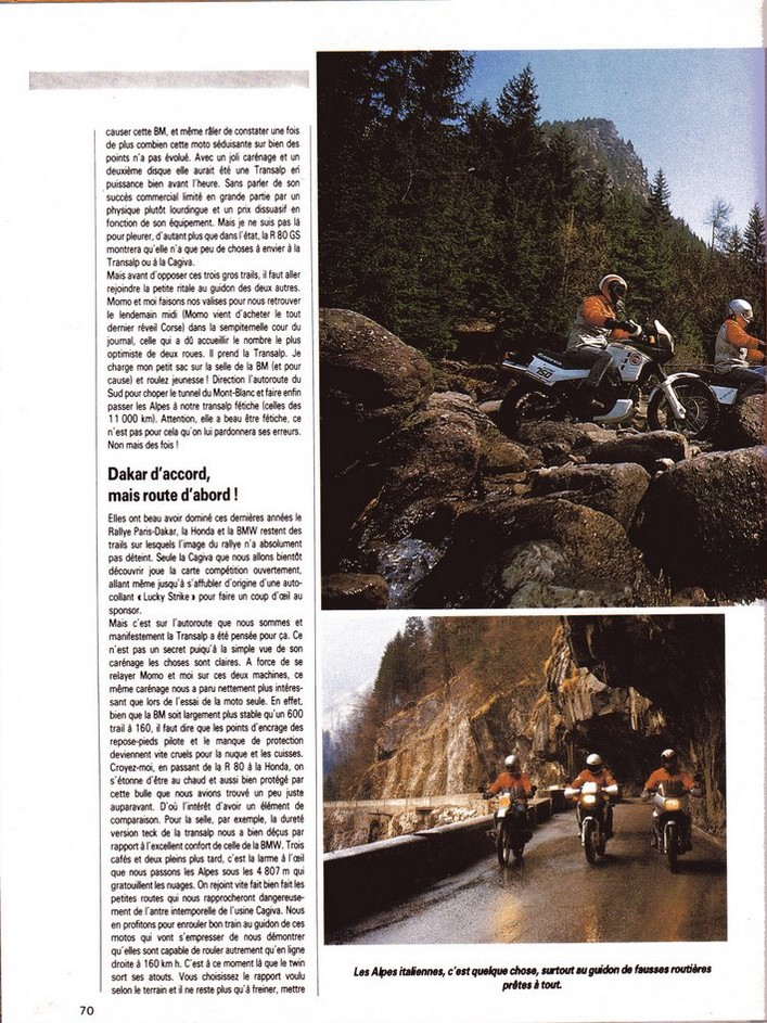 Honda Transalp Moto Journal 23 avril 1987