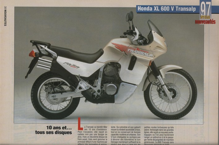 Honda Transalp Moto Journal 3 octobre 1996