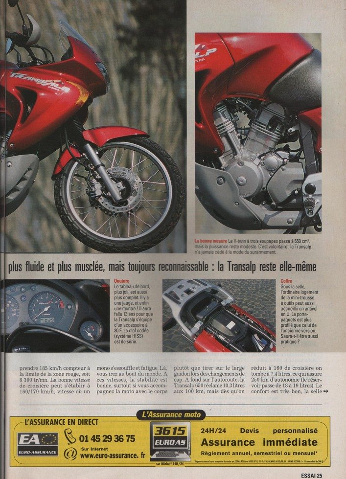 Honda Transalp Moto Journal 23 mars 2000