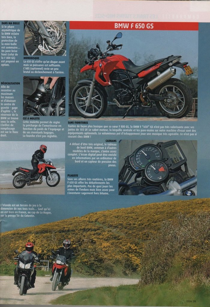 Honda 700 Transalp Moto Journal 24 avril 2008