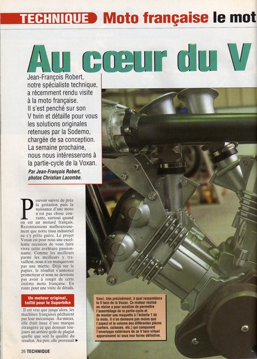 Voxan Moto Journal 12/12/1996