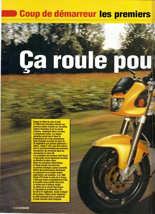 Voxan Moto Journal 04/09/1997