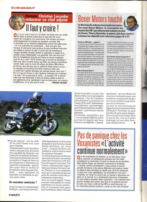 Voxan Moto Journal 05/07/2001