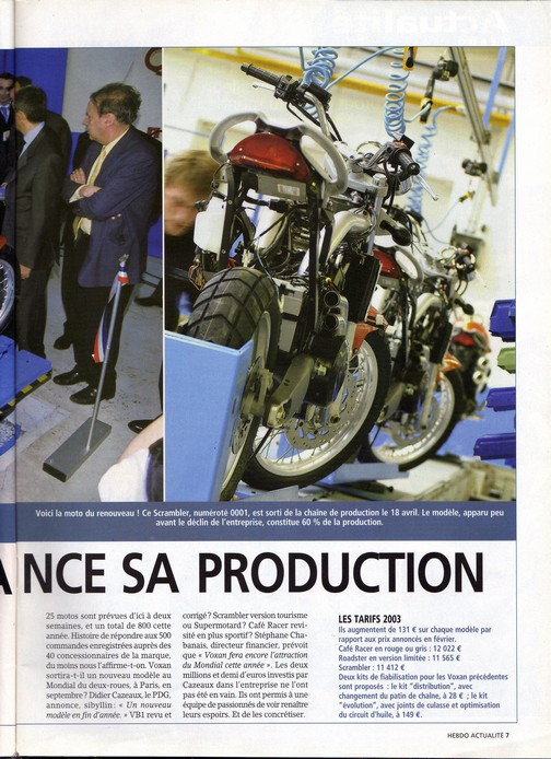 Voxan Moto Journal 24 avril 2003