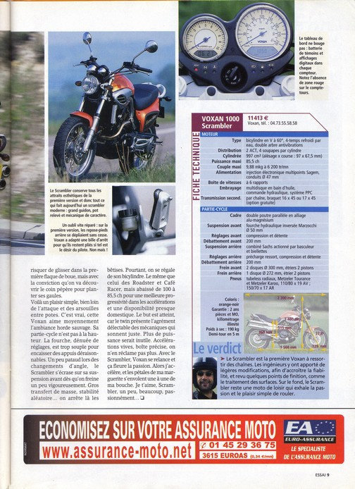 Voxan Moto Journal 15 mai 2003