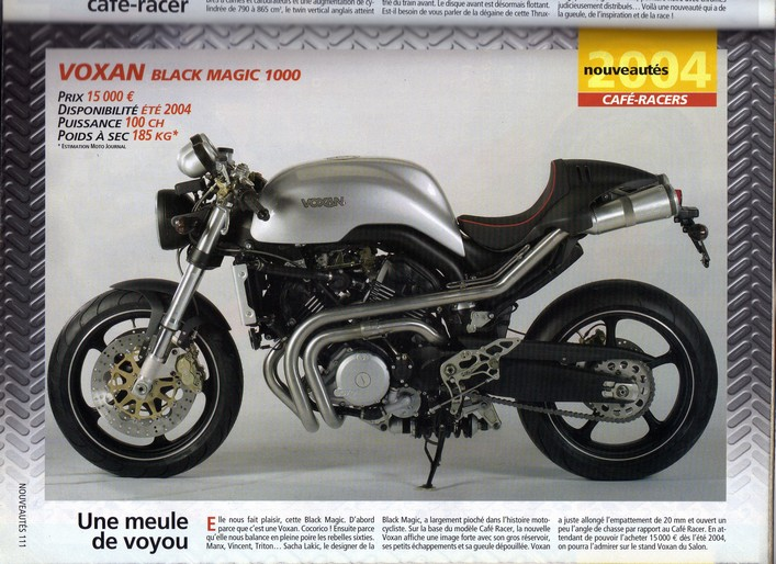 Voxan Moto Journal 25 septembre 2003