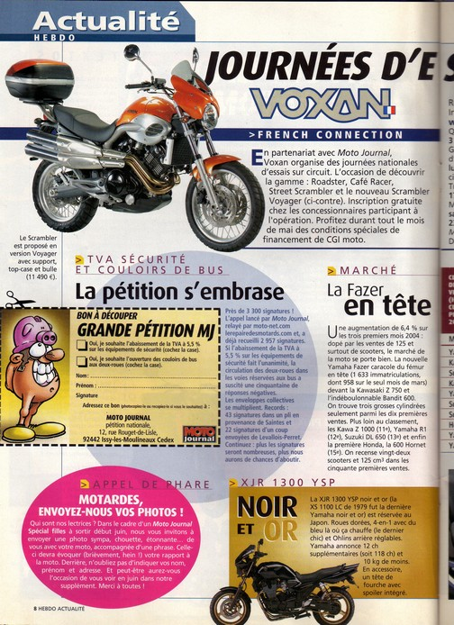 Voxan Moto Journal 15 avril 2004