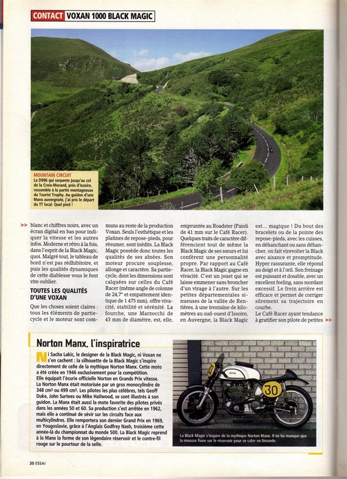 Voxan Moto Journal 9 septembre 2004