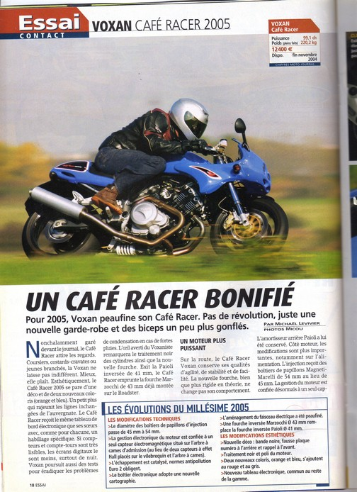 Voxan Moto Journal 4 novembre 2004