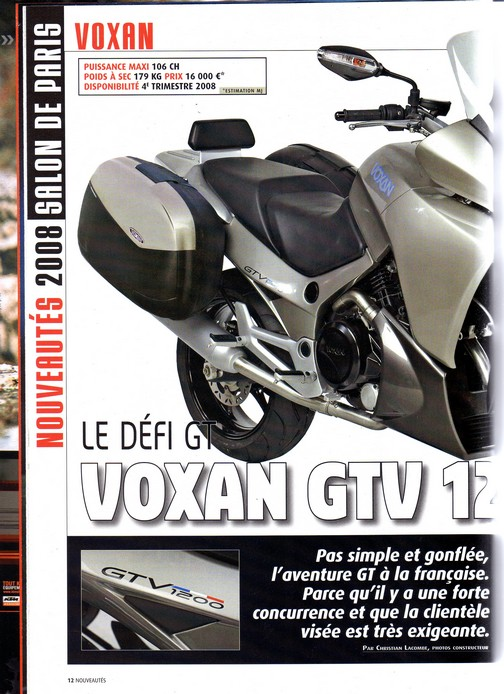 Voxan Moto Journal 4 octobre 2007