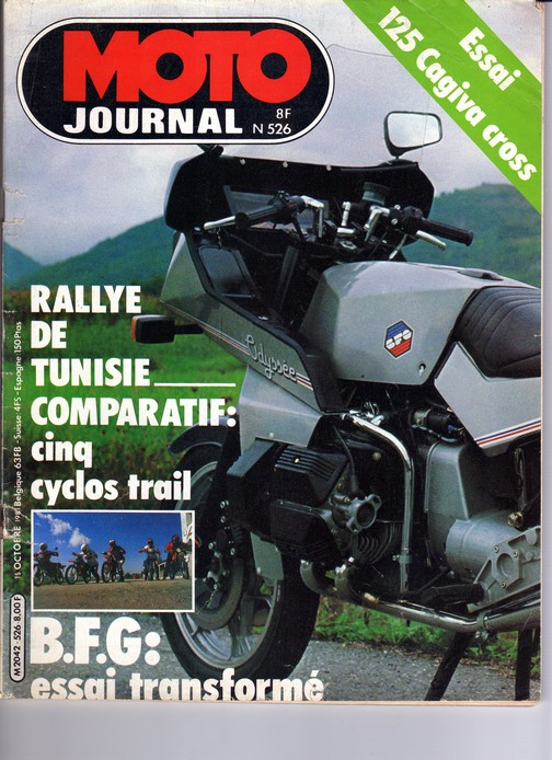 BFG Moto Journal 15/10/1981