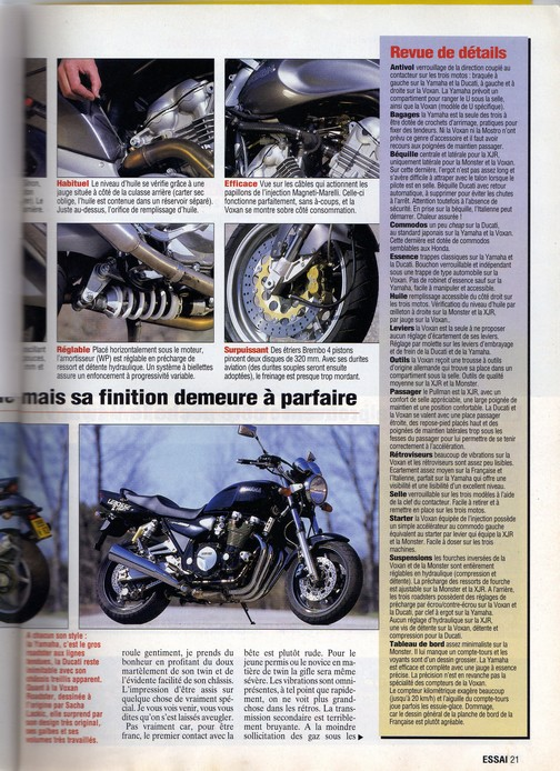 Voxan Moto Journal 1er avril 1999