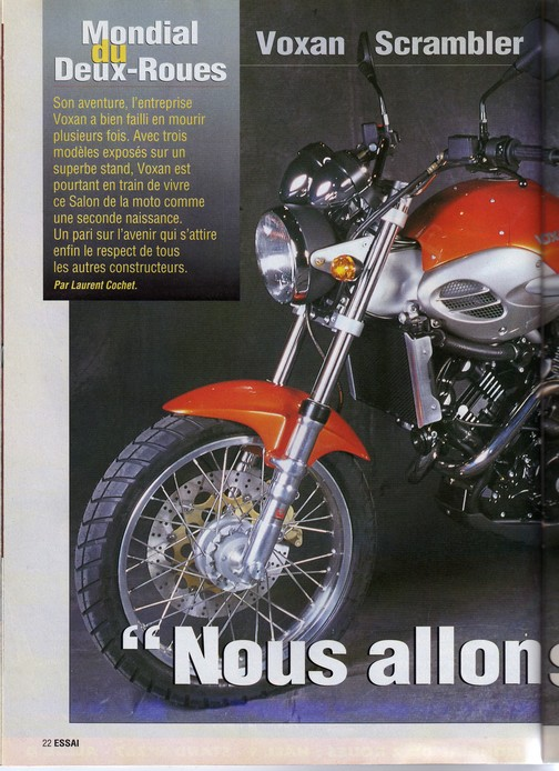 Voxan Moto Journal 07/10/1999