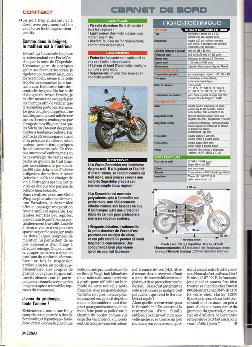 Voxan Moto Journal 05/04/2001