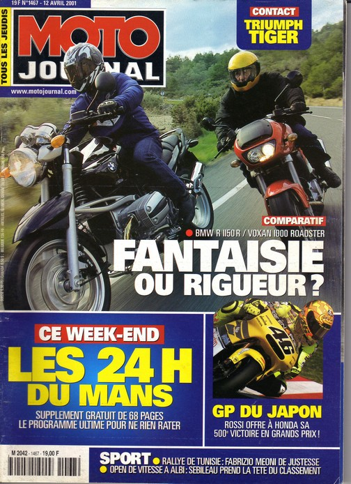 Voxan Moto Journal 12/04/2001
