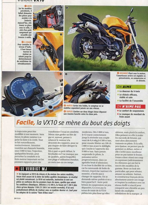 Voxan VX 10 Moto Journal 19 novembre 2009